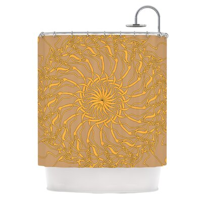 Mandala Spin Latte by Patternmuse Shower Curtain