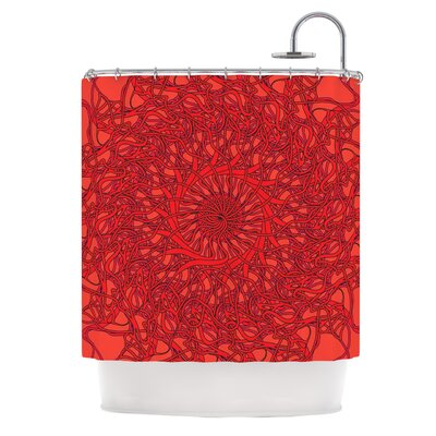 Mandala Spin Romance by Patternmuse Geometric Shower Curtain