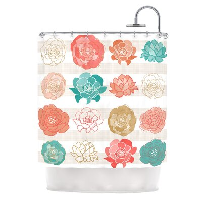 Flower Square by Pellerina Design Floral Shower Curtain