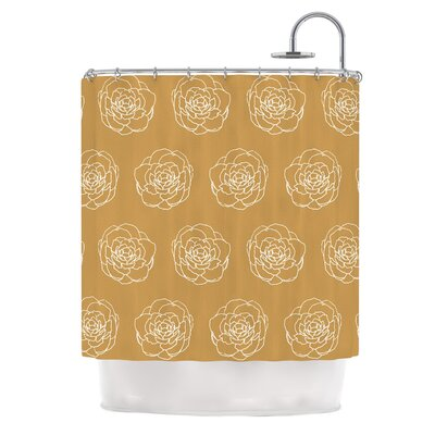 Golden Peonies by Pellerina Design Shower Curtain