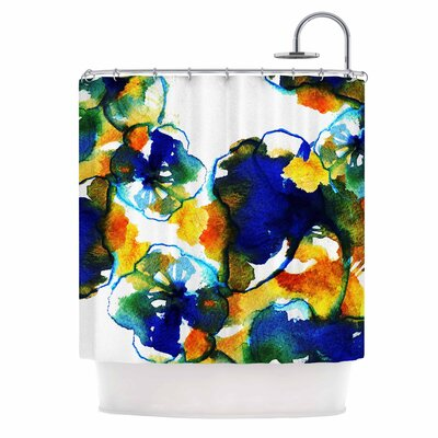 Flora by Sonal Nathwani Abstract Watercolor Shower Curtain