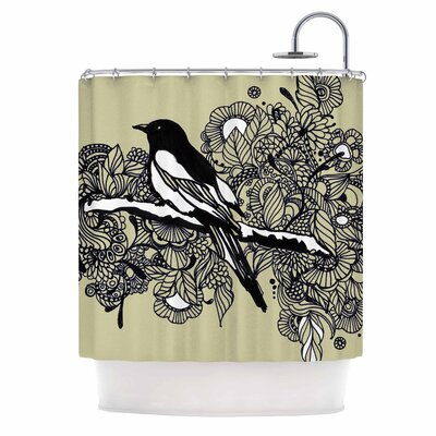 Magpie by Sonal Nathwani Bird Shower Curtain