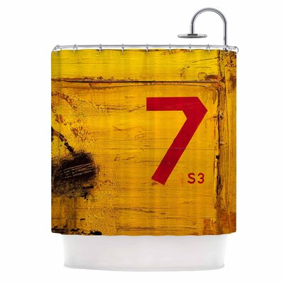 7S3 by Steve Dix Painting Shower Curtain