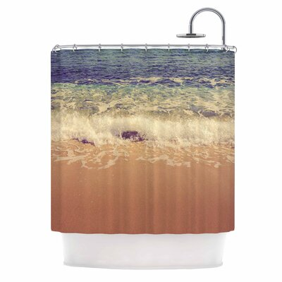 Crashing Waves by Violet Hudson Beach Coastal Shower Curtain