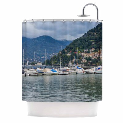 Italian Harbor by Violet Hudson Coastal Shower Curtain