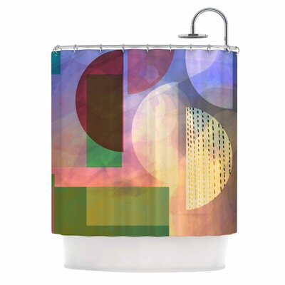 Baying At The Moon by AlyZen Moonshadow Geometric Shower Curtain