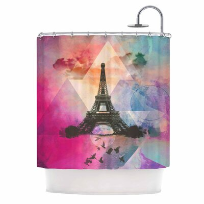 Eiffel Tower by AlyZen Moonshadow Shower Curtain Color: Multi