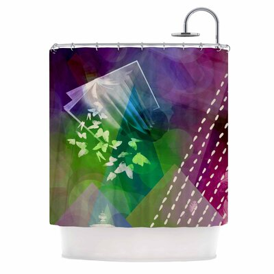 Escape by AlyZen Moonshadow Shower Curtain