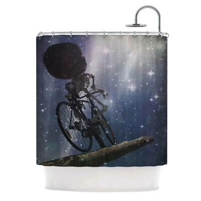 No Rest For The Wicked by AlyZen Moonshadow Space Shower Curtain