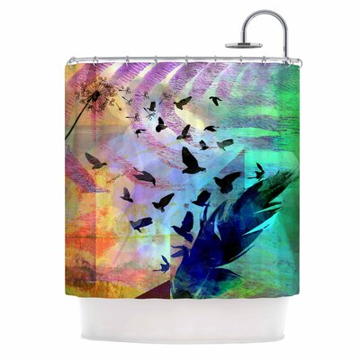 Not Quite Birds Of A Feather by AlyZen Moonshadow Shower Curtain