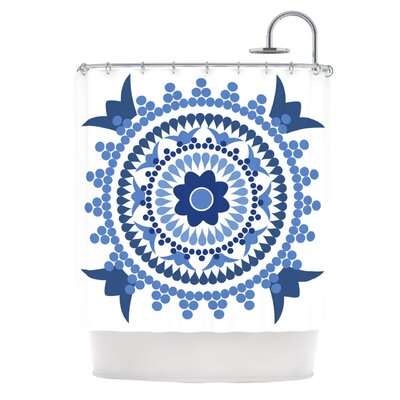 Bohemian Blues by Carolyn Greifeld Shower Curtain