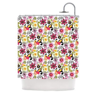 Pretty Florals by Carolyn Greifeld Shower Curtain
