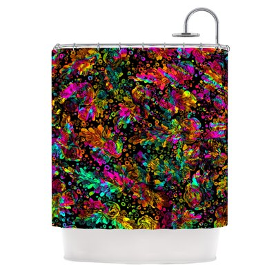 Prismatic Posy IV by Ebi Emporium Floral Shower Curtain