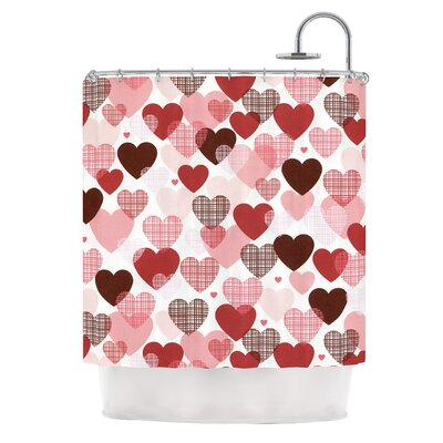 Love by Heidi Jennings Shower Curtain