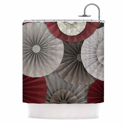 Merlot by Heidi Jennings Abstract Shower Curtain