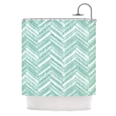 Painted Chevron by Heidi Jennings Shower Curtain