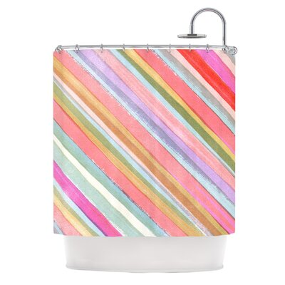 Pastel Stripes by Heidi Jennings Shower Curtain
