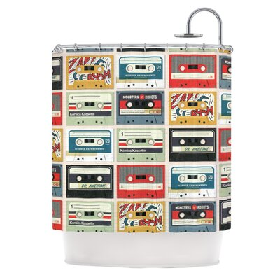 Retro Tape by Heidi Jennings Shower Curtain