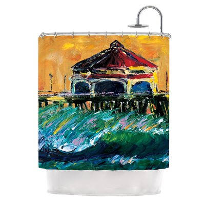 Offshore Beauty by Josh Serafin Coastal Shower Curtain
