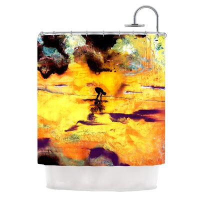 Pool of Life by Josh Serafin Abstract Shower Curtain