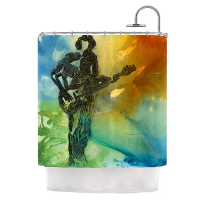 Rhythm by Josh Serafin Guitar Player Shower Curtain