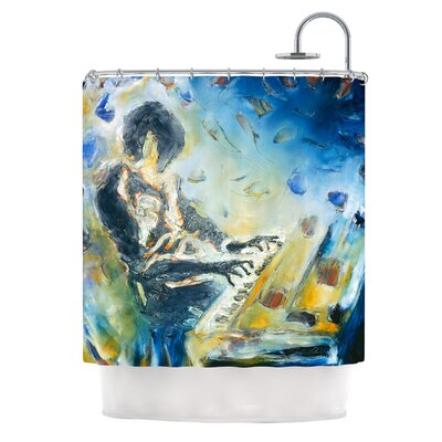 Riders on the Storm by Josh Serafin Piano Player Shower Curtain