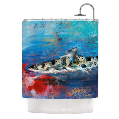 Sea Leopard by Josh Serafin Shark Shower Curtain