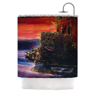 Seaside Village by Josh Serafin Shower Curtain