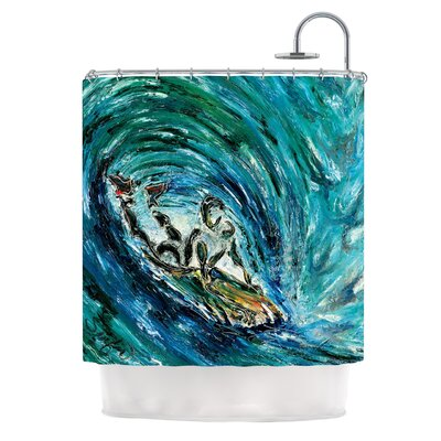 Sponge by Josh Serafin Shower Curtain