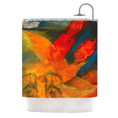 What's Beneath My Feet by Josh Serafin Fish Seagull Shower Curtain