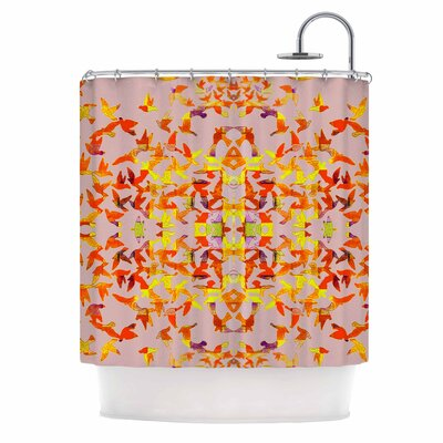 Flying Birds by Marianna Tankelevich Abstract Shower Curtain