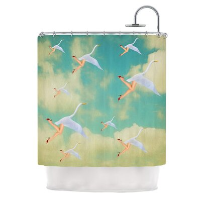 Swan by Natt Shower Curtain