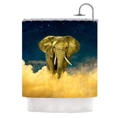 Celestial Elephant by Nick Atkinson Shower Curtain