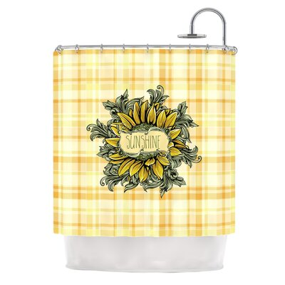 Sunflower Sunshine by Nick Atkinson Shower Curtain