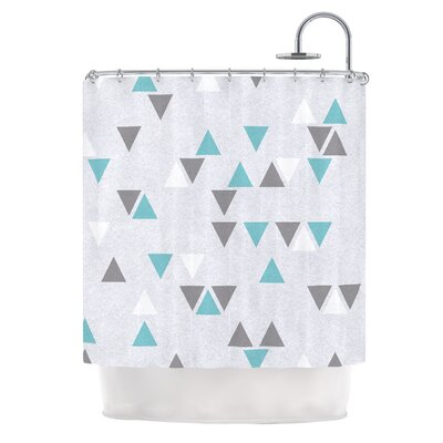 Triangle Love II by Nick Atkinson Shower Curtain