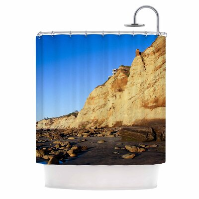 Beach Cliffside Rocks by Nick Nareshni Shower Curtain