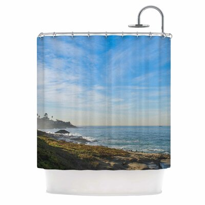 Blue Sky Over The Ocean by Nick Nareshni Coastal Shower Curtain