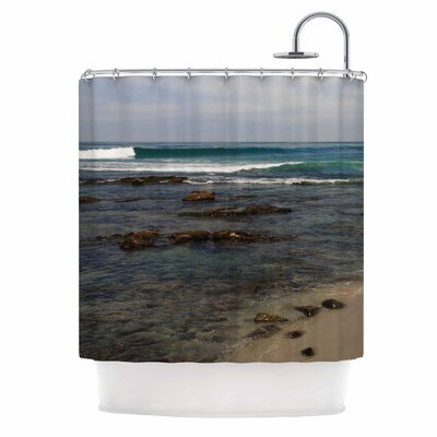Clear Water Beach by Nick Nareshni Coastal Shower Curtain