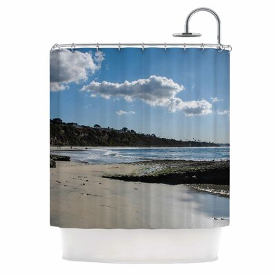 Clouds Over Swamis Beach by Nick Nareshni Shower Curtain