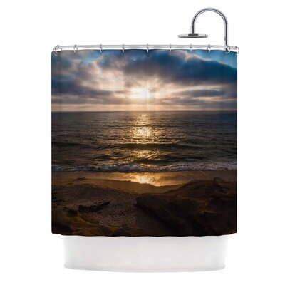 La Jolla Sunset On Beach by Nick Nareshni Shower Curtain