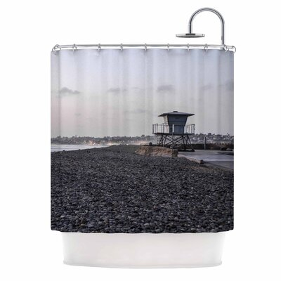 Lifeguard On The Rocks by Nick Nareshni Shower Curtain