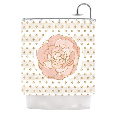 Watercolor Peony by Pellerina Design Floral Shower Curtain