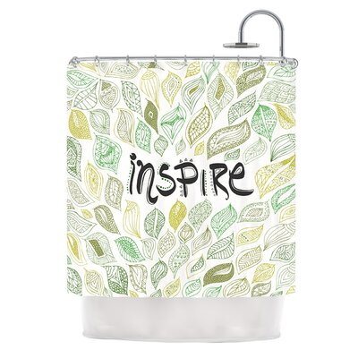 Inspire Nature by Pom Graphic Design Shower Curtain