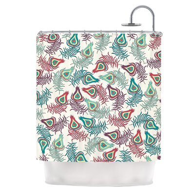 Peacock Feathers by Pom Graphic Design Shower Curtain