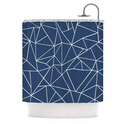 Abstraction Outline by Project M Abstract Shower Curtain