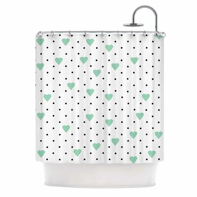 Pin Point Polka Dot by Project M Shower Curtain