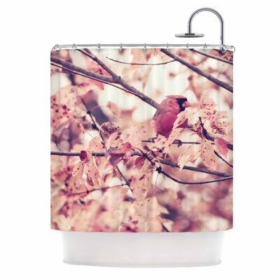 Angry Bird in Fall Leaves by Qing Ji Nature Shower Curtain