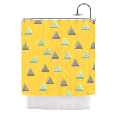 Triangles by Strawberringo Geometric Shower Curtain