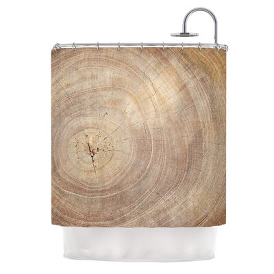 Aging Tree by Susan Sanders Wood Shower Curtain