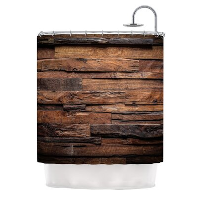 Espresso Dreams by Susan Sanders Rustic Wood Shower Curtain